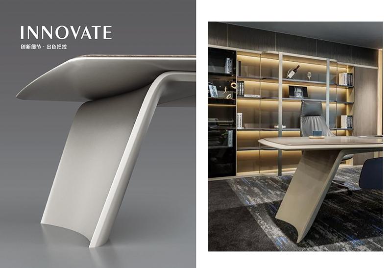 格莱美系列高管班台桌脚设计图