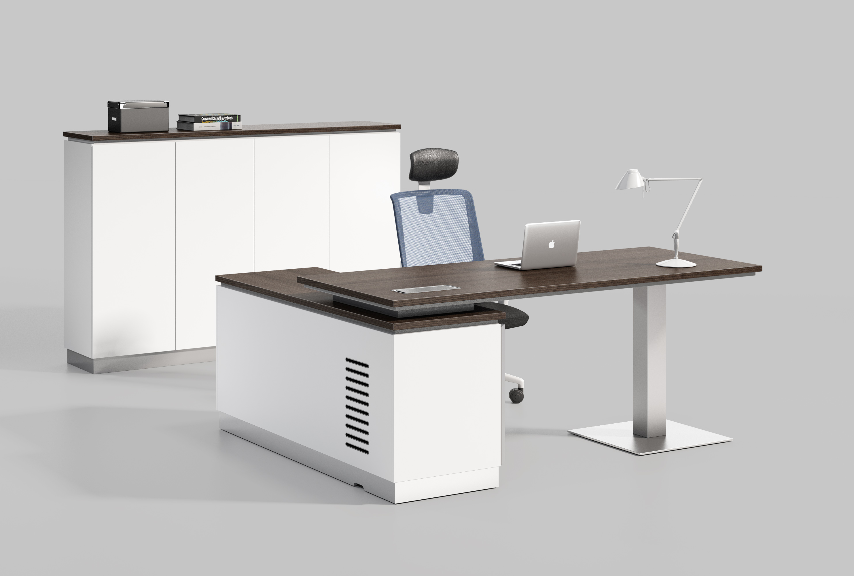 明锐系列Y210(R)主管桌+背柜