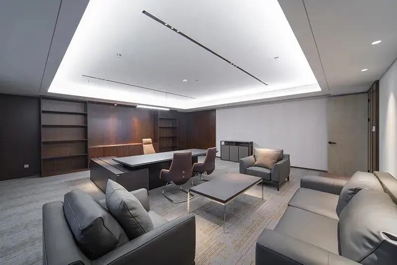 集团企业老款友博国际棋牌家具工程案例之经理室沙发