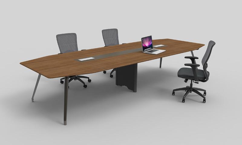 格调系列H034会议桌—核桃木饰面