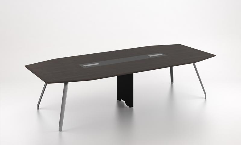 格调系列H034会议桌—黑胡桃木饰面