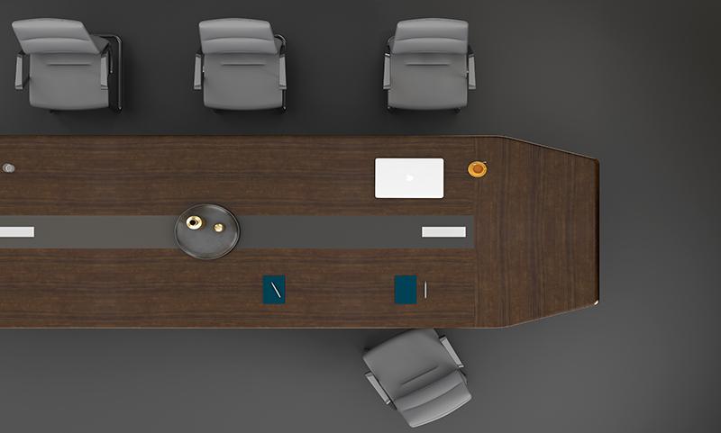 格调系列H034会议桌俯视图