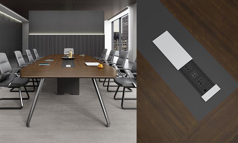 格调系列H034会议桌细节图