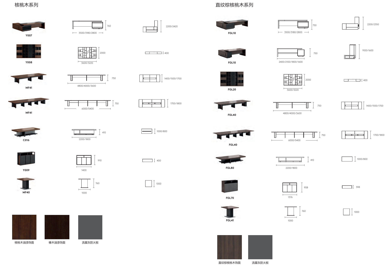 菲格拉利系列会议桌尺寸图