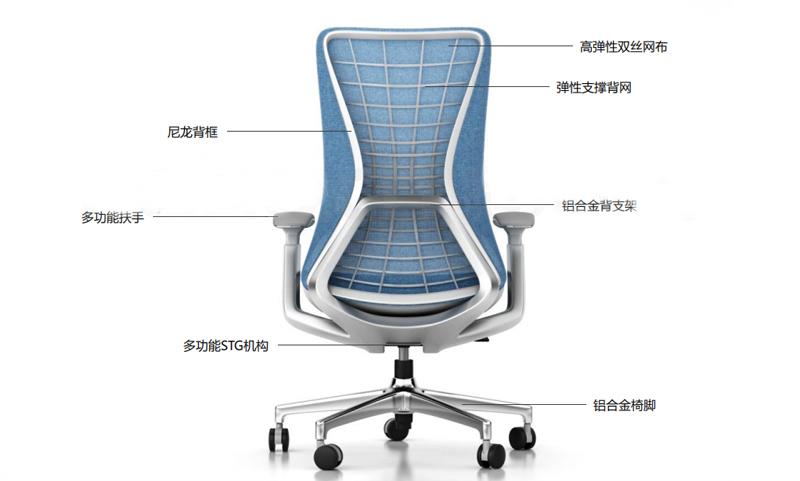 蓝途系列高档老款友博国际棋牌椅介绍图