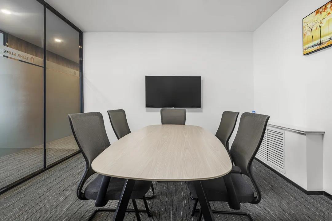 简约舒适现代老款友博国际棋牌室家具案例之洽谈桌